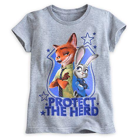 Judy Hopps and Nick Wilde Tee for Girls - Zootopia   Disney Store