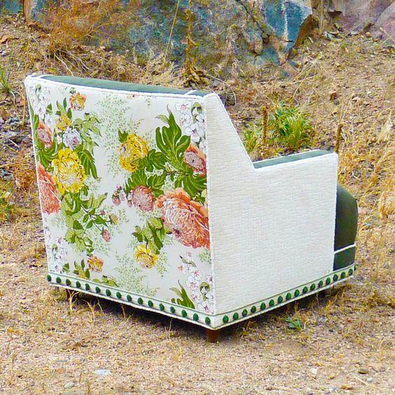 Corduroy Floral Chair