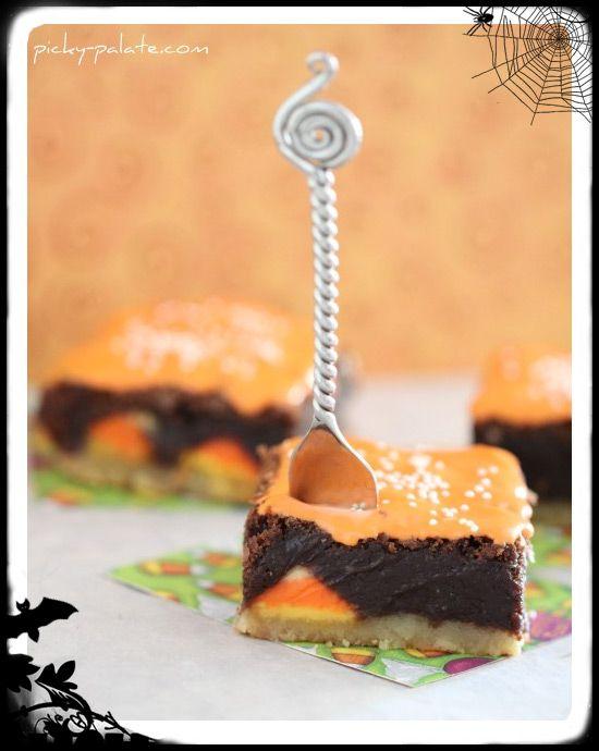 Shortbread Candycorn Kissed Brownies