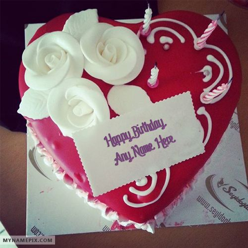Birthday Cakes With Name Vaishali ~ Best website for name birthday cakes write your on amazing heart picture