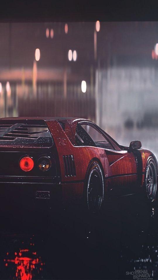 F40 Classic Ferrari F40 Classic Car Art Wallpaper With Images