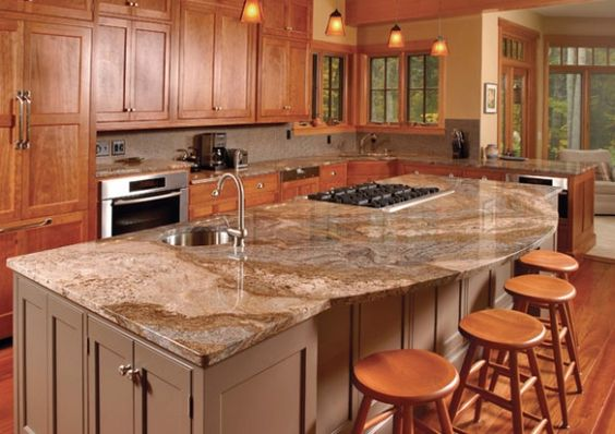 kitchen island with stovetop and small sink kitchen