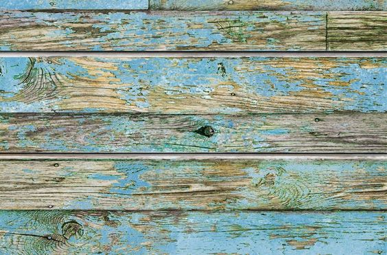 Blue Old Painted Wood Textured Slatwall