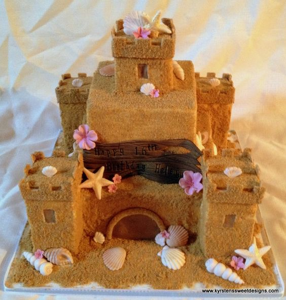 'Sweet 16″ Sand Castle Cake | Kyrsten's Sweet Designs