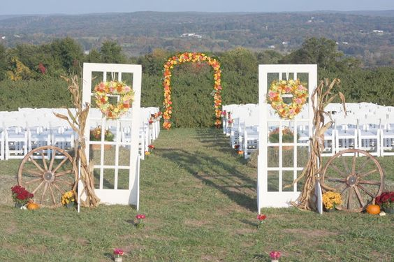 Antique Door Wedding Décor/ Decorated Ceremony Space/ Country Wedding Décor by Country Girl Collections
