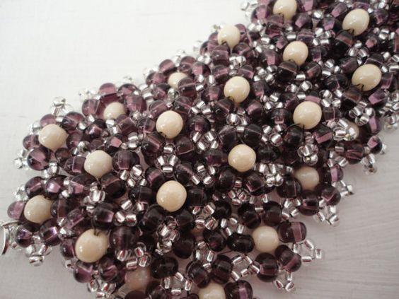 Bracelet en perles de rocailles Tchèque et par 1fil2aiguilles