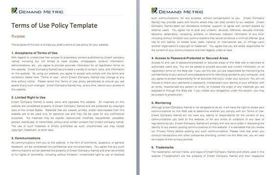 Privacy Policy Template - A template to assist you with crafting a - policy proposal template