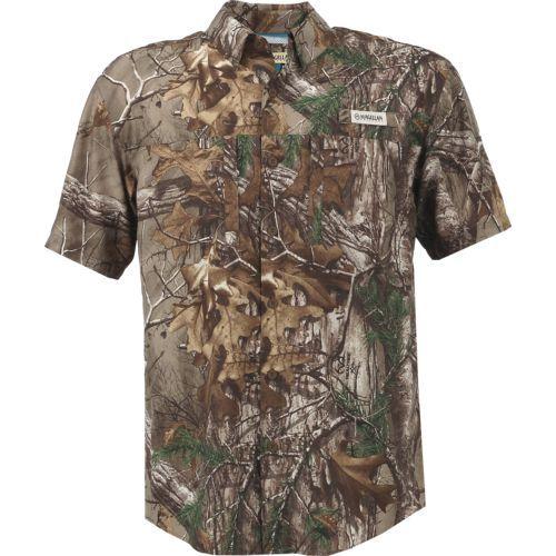 Mossy Oak Size M-2XL Moisture Wicking Short Sleeve Mens Camo Tee Shirt