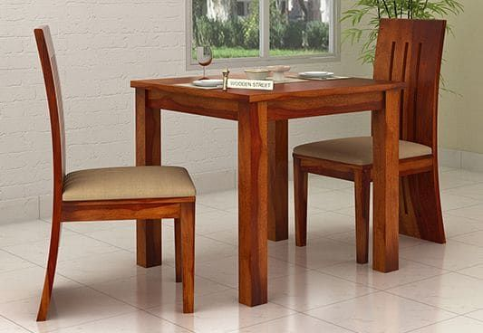 Terex 2 Seater Dining Set Honey Finish 2 Seater Dining Table