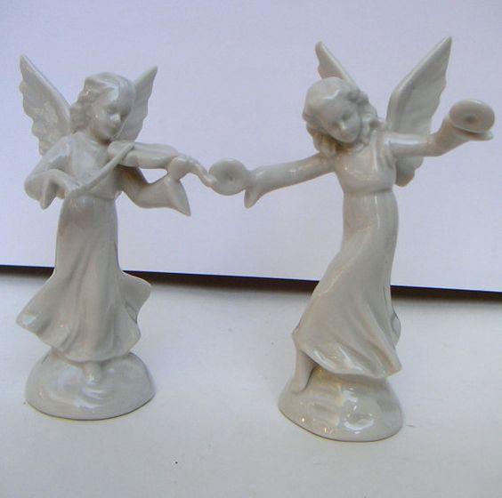 vintage angel figurines