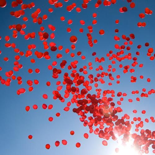 eco friendly balloon release - no string on balloons, latex is biodegradable and write message on balloon with felt tip marker