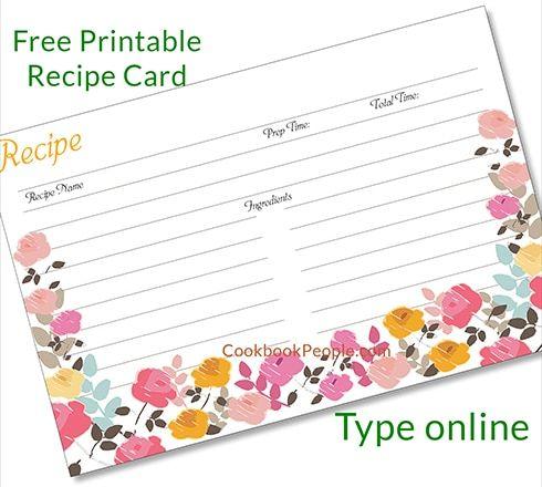 Free Recipe Cards Recipe Cards Printable Free Recipe Cards Template Printable Recipe Cards