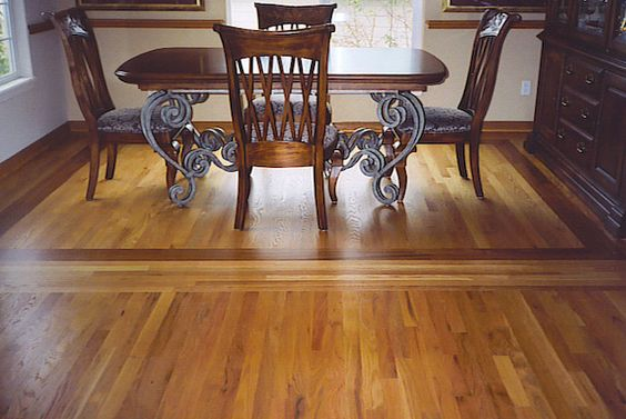 Residential hardwood floor borders and inlays family for Residential wood flooring