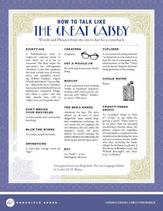 how to write a book like the great gatsby