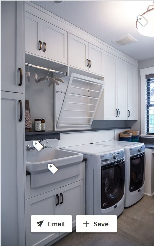 Clothes Rod Above Sink To Catch Water For Drip Dry Plus Fold Down Flat Drying Rack Stylish Laundry Room Laundry Room Design Small Laundry Rooms