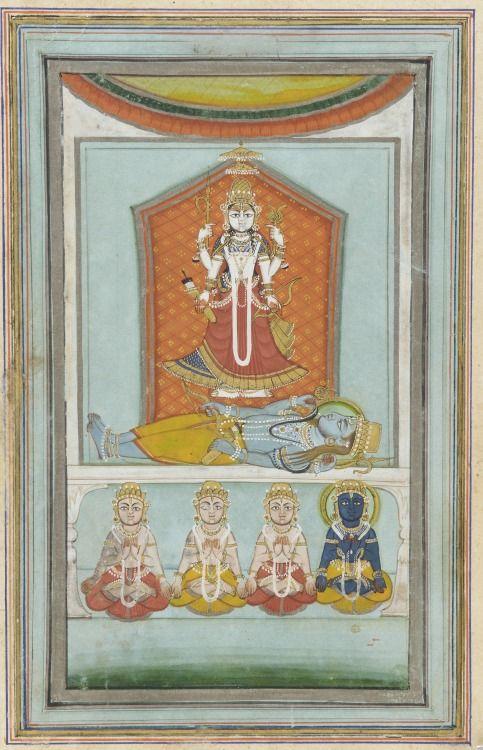 Rajarajeswari, Rajasthani painting