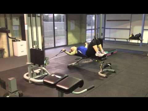 More chest exercise examples on the new equipment!