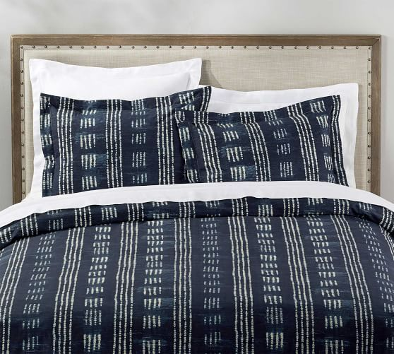 Shibori Dot Patterned Duvet Cover Sham Pottery Barn Duvet