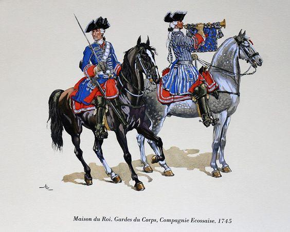 garde du corps de la maison du roi 1745 m dugu mc carthy cavalerie fran aise de l 39 ancien. Black Bedroom Furniture Sets. Home Design Ideas