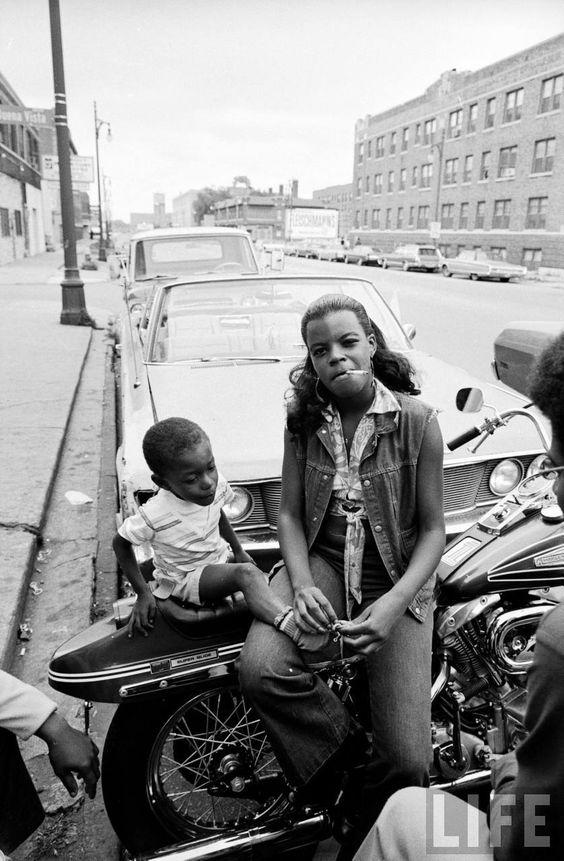 1970's motorcycle mama indeed.