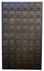 raw vintage postal file unit