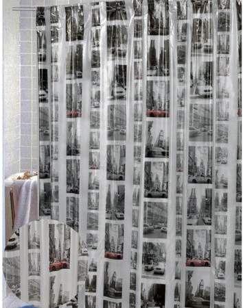 Carnation Home Fashions New York Vinyl Shower Curtain Vinyl