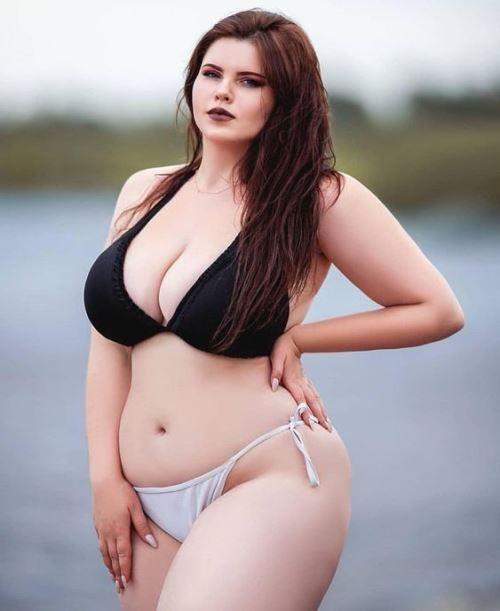 Hot big tits redhead striptease