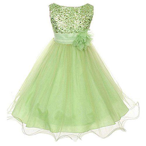 ZAH Sequin Mesh Flower Party Wedding Gown Bridesmaid Tulle ...