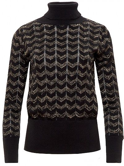 Rosemary Top, black/gold