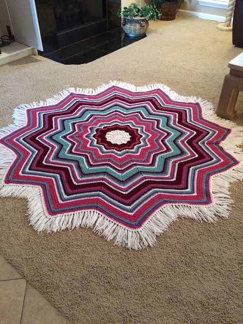 Ravelry: Project Gallery for Rainbow Ripple Baby Blanket pattern by Celeste Young