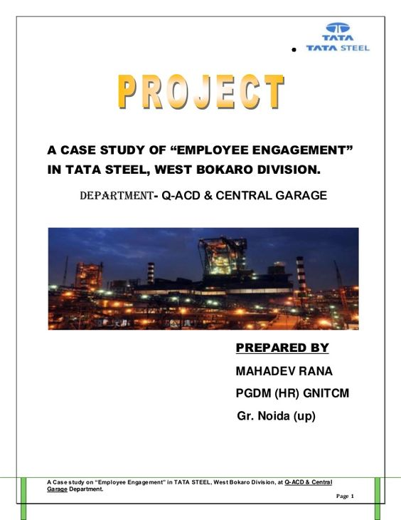 project report employee engagement (by ) mahadev rana Stress - project report