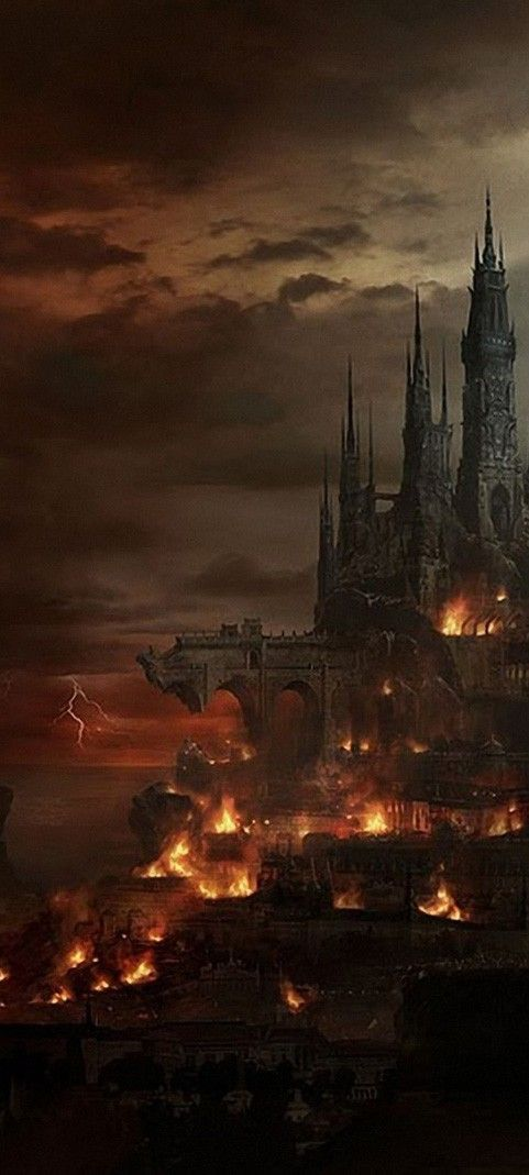 Pictures like these are great for triggering creative thinking - what city is this?  Why is it burning?  What will be the outcome?  Will you write the story for this illustration? (Cool Art Dark)