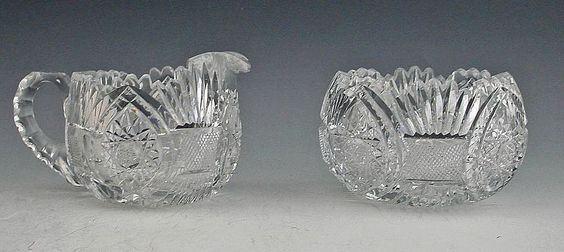 Pairpoint Glass Patterns | Pairpoint Cut Glass Sugar and Cream Set from varyvintageantiques on ...