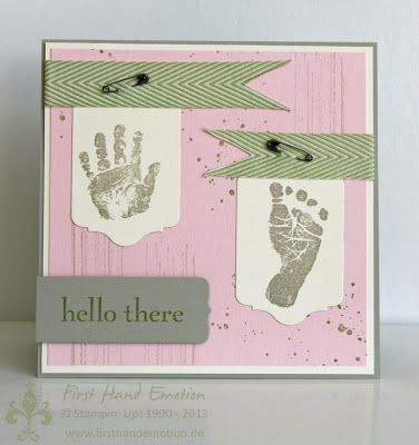 Stampin' UP! Babyglück Gorgeous Grunge Happy Day by First Hand Emotion