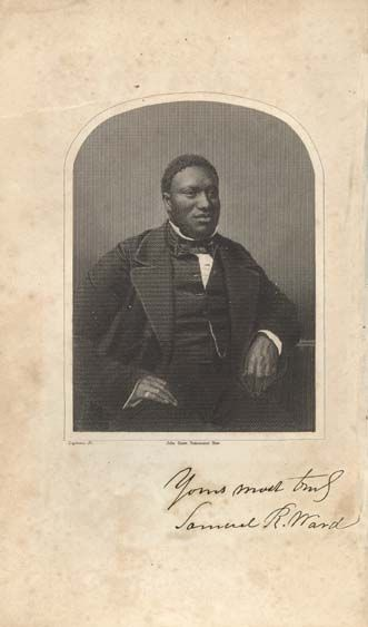Samuel Ringgold Ward (1817-1864), was one of the most prominent of the anti-slavery speakers in the nation by the 1850s. Born into slavery in Maryland, he escaped with his mother to New Jersey. Ward worked variously as a school teacher, newspaper editor and minister. after passage of the Fugitive Slave Act in 1850 he moved to Canada. In 1855 he wrote The Autobiography of a Fugitive Negro. (image © University of North Carolina at Chapel Hill.)