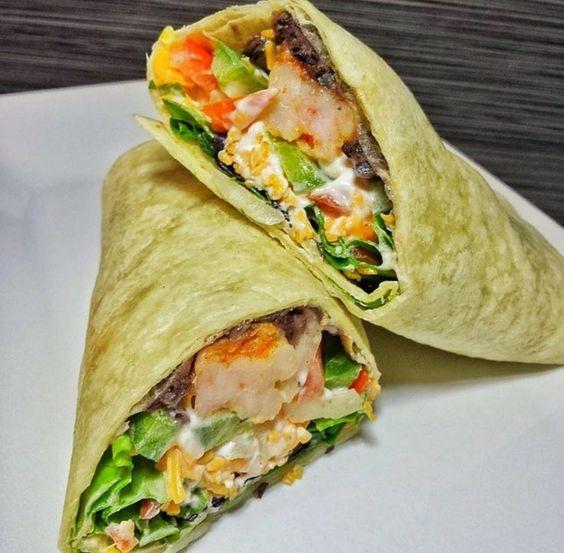 Shrimp burrito, Spicy shrimp and Burritos on Pinterest
