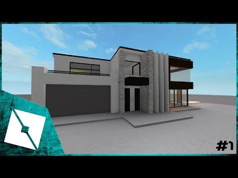 Roblox Studio Modern House Building 1 Youtube With