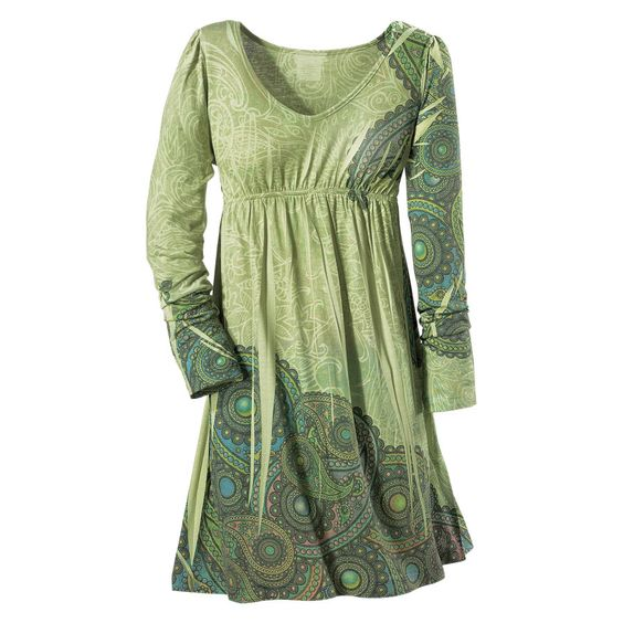 Green Paisley Dress $60
