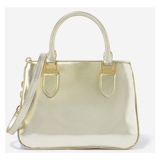 CHARLES & KEITH Zip Closure Tote (120 CAD) ❤ liked on Polyvore featuring bags, handbags, tote bags, gold, beige purse, zipper handbag, beige tote bag, beige handbags and charles & keith