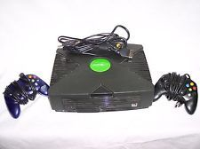 ORIGINAL XBOX CONSOLE COMPLETE WITH 2 CONTROLS POWER RF CONSOLE