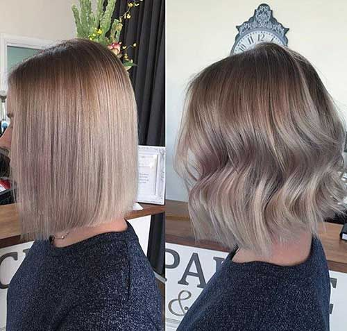 Ash Blonde Bob, Blonde Bobs, Medium Ash Blonde Hair, Ash Blonde Balayage Short, Blonde Bob Straight, Ash Brown Hair Short, Light Ash Brown Balayage,