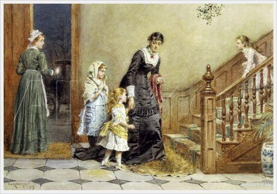 George Goodwin Kilburne (British, 1839-1924) «Christmas eve»