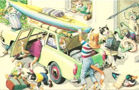 Falha ao carregar o carro para férias Alfred Mainzer vestida gatos fantasia postal in Colecionáveis, Cartões postais, Animais | eBay