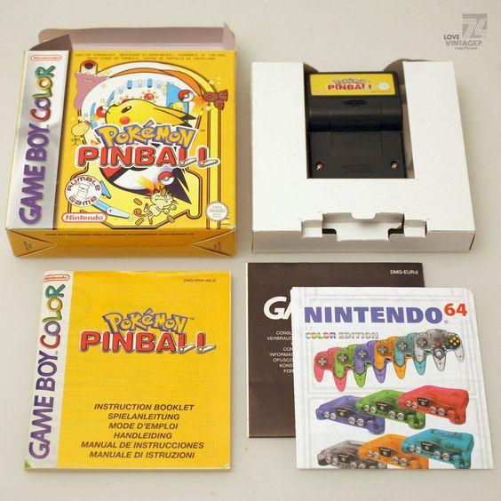 cyan74.com - vintage & pop culture   Nintendo Gameboy Color Pokemon Pinball