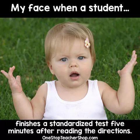 Image Result For Guessing On Standardized Testing Memes Teacher Memes Funny Teaching Humor Teacher Humor