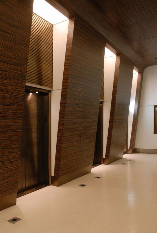 Double layer stretch ceiling and wall systems office for Office door entrance designs