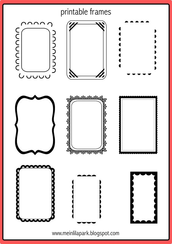 FREE printable doodle frames ^^ | perfect for DIY gift tags
