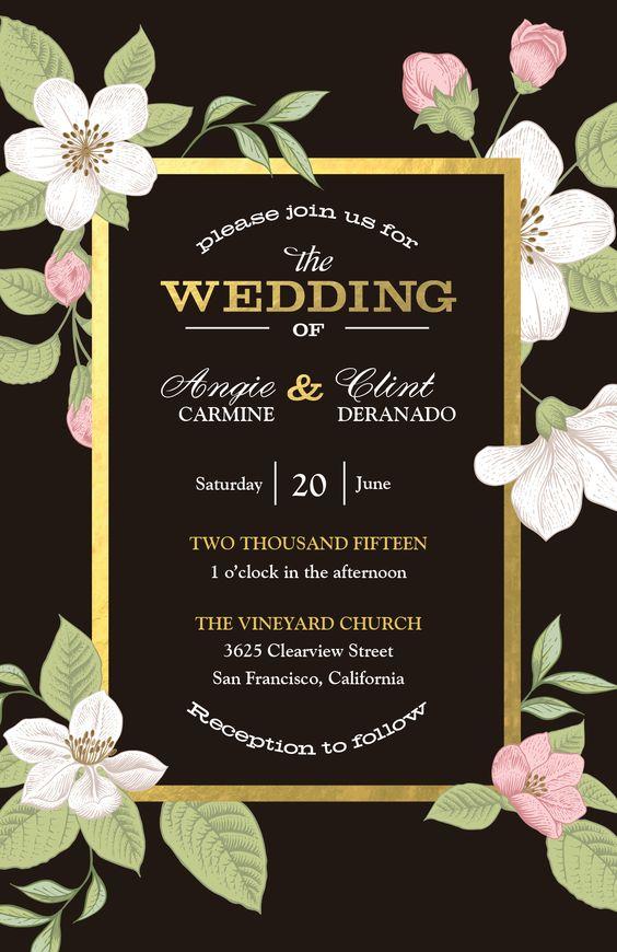 bold floral wedding invitation vistaprint bold floral With vistaprint blush wedding invitations