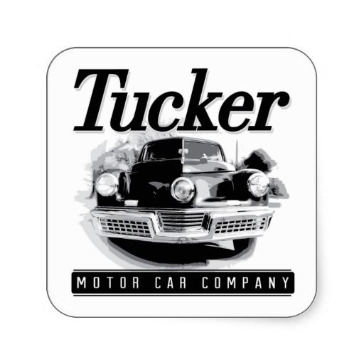 Vintage Tucker Motor Car Logo Square Stickers Car Logos Motor