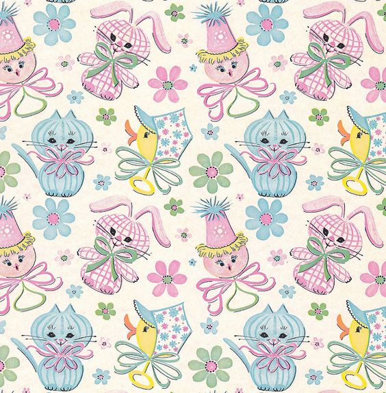 vintage baby gift / baby shower wrapping paper  Бумага, фоны, Baby shower invitation